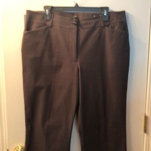 Ann Taylor Curvy 16 chocolate brown pants! Likenew